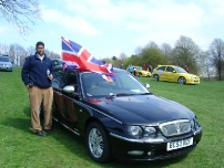 Annesley with his Rover car at the 'Pride of Longbridge' car rally in Longbridge 2009