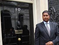Annesley outside No 10 Downing Street after attending a reception with the Prime Minister