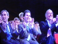 The Rt Hon Michael Howard (then Party leader), The Rt Hon Oliver Letwin MP and The Rt Hon John Redwood MP during Annesley's speech to the 2004 Conservative Party Conference