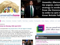 Annesley\'s article about saving the Great British Pub is prominently featured on the Conservative Home website