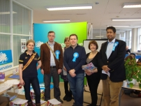 Annesley at the Yorkshire Conservative Campaign Headquarters for the Bradford West by-election