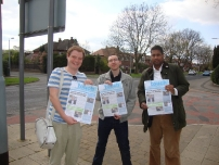Annesley supporting local election candidate - Oliver Johnstone in Hazel Grove ward, Stockport Borough (2012).