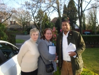 Annesley supporting local election candidate - Annette Finnie in Marple North ward, Stockport Borough (2012).