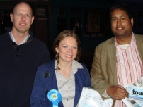 Annesley supporting local by-election candidate, Caroline Kerswell for Weavers ward in the London Borough of Tower Hamlets (2012)