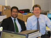 Annesley telephone canvassing with Treasury Minister, Rt Hon Greg Clark MP on the night of the Corby by-election on 15th November 2012.