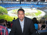 Annesley at the London 2012 Olympic Games Opening Ceremony.