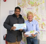 Annesley with Michael Fabricant MP at the Eastleigh Conservative parliamentary By-election campaign HQ about to hit the campaign trail for Maria Hutchings in Feb 2013.