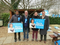 Annesley and fellow activists campaigning in Eastleigh for the parliamentary by-election - February 2013.