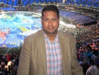 Annesley at the Paralympic Games Opening Ceremony.