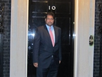 Annesley outside 10 Downing Street in September 2012.