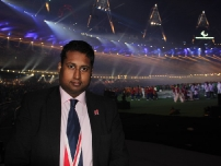 Annesley at the Paralympic Games 2012 Closing Ceremony