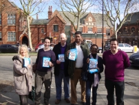 Annesley campaigning for Boris Johnson in Highgate with local activists and Andy Hemsted, 2012 Conservative GLA Candidate for Enfield & Haringey