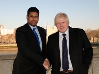 Annesley with Mayor Boris Johnson