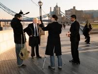 Mayor Boris Johnson does a piece to camera endorsing Annesley