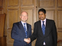 Annesley with The Rt Hon William Hague MP on one of his visits to the North West