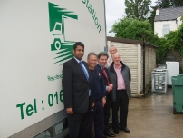 Annesley takes The Rt Hon Oliver Letwin MP to the Furniture Station in Hazel Grove