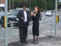 Annesley shows Theresa Villers MP (Shadow Transport Secretary at the time) traffic congestion on the A6