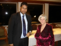 Annesley with The Rt Hon Anne Widdecombe at a fundraiser for the election in Hazel Grove