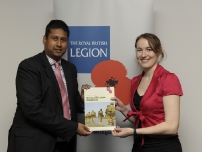 Annesley pledges to 'do his bit' for the armed forces with the Royal British Legion
