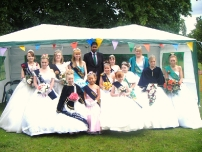 Annesley after crowning the Hazel Grove Carnival Queens 2008