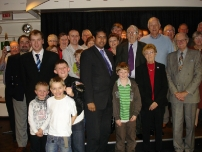 Annesley with some attendees of the Hazel Grove Association Christmas Lunch 2008