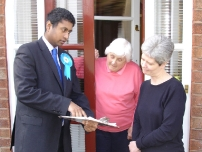 Annesley talking to local residents about various issues