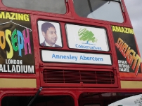 The front of Annesley's battle bus