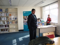 Annesley at the RNIB in the constituency which is also the UK Braille Headquarters