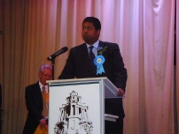 Annesley makes his speech after the declaration of results