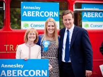David Cameron with activists