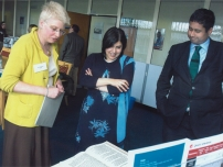 Annesley showing The Rt Hon Baroness Warsi around the RNIB Braille Headquarters which is based in the constituency