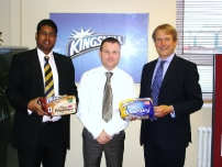 Annesley with the regional director for Kingsmill Bread (middle) and The Rt Hon Owen Paterson MP (now Secretary of State for Environment, Food & Rural Affairs) at the Kingsmill Bread factory in the constituency.