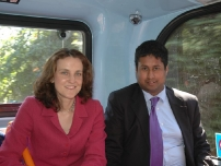 Annesley discussing transport issues in Stockport Borough with Rt Hon Theresa Villers MP, the then Shadow Secretary of State for Transport.