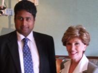 Annesley with Jacqueline Foster MEP (North West Region) at an election fund-raiser in Hazel Grove