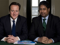 Annesley with David Cameron in his private office