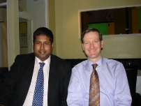 Annesley with Dominic Grieve QC, MP at dinner after he addressed the Group