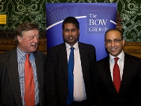With Rt Hon Kenneth Clarke QC, MP and Dragons\' Den star Theo Paphitis