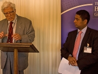 At the Bow Group Summer Reception – 2009. Rt Hon Lord Geoffrey Howe QC speaking. (Former Bow Group Chairman and co-founder of the Group)