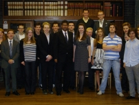 Annesley at the launch of the Oxford University branch of The Bow Group