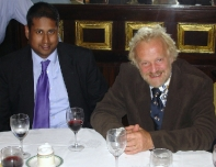 Annesley at dinner with celebrity TV Chef, Anthony Worrall-Thompson after he addressed the Group