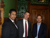 Annesley with The Rt Hon Jeremy Hunt MP, who was the then Shadow Secretary of State for Culture Media & Sport and John Tate, Director of Policy at the BBC