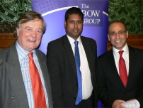 Annesley with The Rt Hon Kenneth Clarke QC, MP and Dragons\' Den star Theo Paphitis