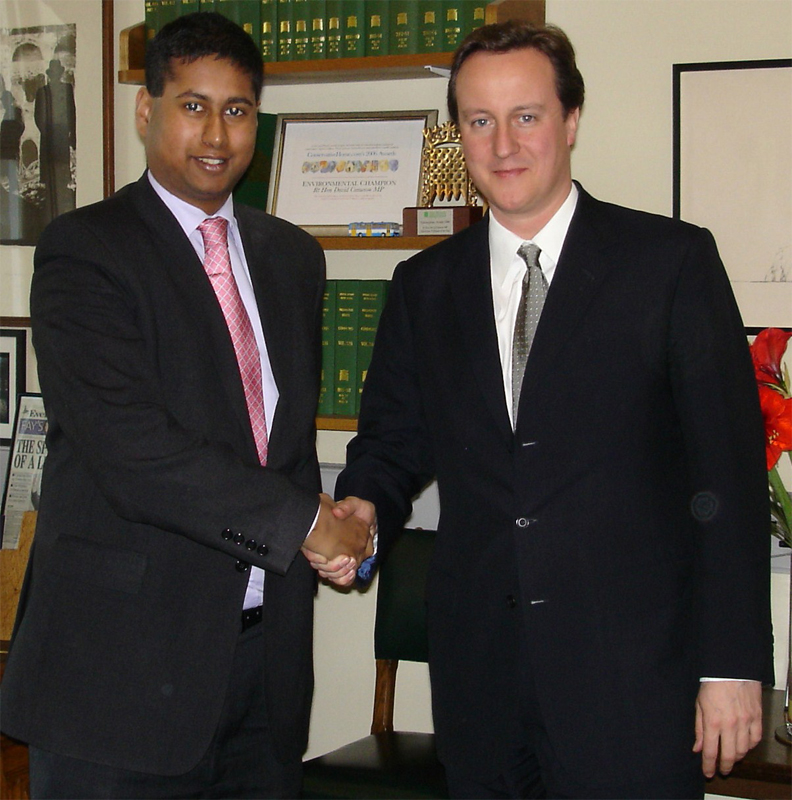 Annesley Abercorn with David Cameron
