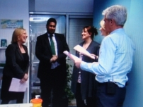 Annesley taking part in a feature about weight and risk of diabetes for ITV\'s This Morning