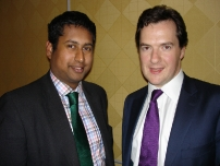 Annesley with The Rt Hon George Osborne MP at the 1922 Committee Dinner for parliamentary candidates in London