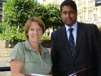 Annesley with Rt Hon Caroline Spelman MP in Westminster