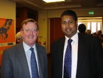 Annesley with Lord Trimble