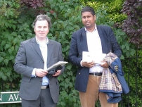 Annesley campaigning during the 2009 Norwich North by-election with Oliver Letwin