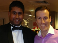 Annesley with Anton Du Beke at a Strictly Come Dancing after show party at the BBC
