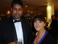 Annesley with former EastEnders star Natalie Cassidy at a Strictly Come Dancing after show party at the BBC